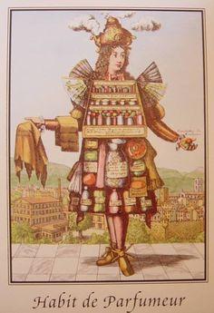 habit de parfumeur d'apr�s une gravure de Larmessin, graveur rue Saint-Jacques � Paris au XVIII� si�cle