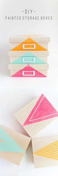 diy painted storage boxes