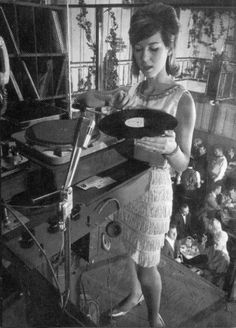 theswinginsixties:    Joanie Labine, the first female DJ at the Whiskey, 1965.