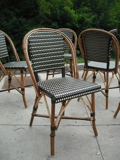 Constructed From Malacca Cane And Durable Polyamide, The French Bistro Chair  Is Suitable For Indoor/outdoor Use.