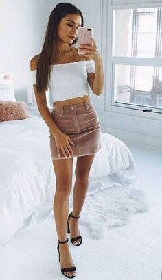 Party outfit for teen girls - 38 Best Casual Outfits For Teen Girls This Summer – Party outfit for teen girls Teen Party Outfits, Party Outfit For Teen Girls, Best Casual Outfits, Summer Outfits For Teens, Cute Teen Outfits, Teenage Outfits, College Outfits, Teen Fashion Outfits, Mode Outfits