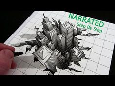 How to Draw a Hole 3D City Optical Illusion: Narrated Step by Step - YouTube