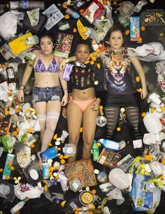 An Artist Shows What 7 Days Of Consumption Looks Like By Having People Lie In Their Own Garbage - Upworthy