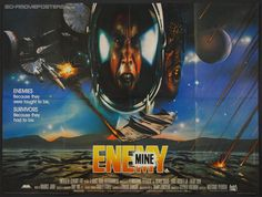 original movie posters | Enemy Mine (1985) - Original British Quad Movie Poster