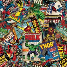"Marvel Comic Fury Cover Art, Fleece, Red, 59/60"" Width, Fabric by the Yard"