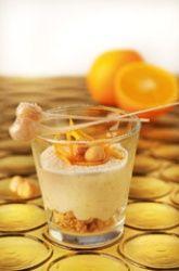 Crema di mascarpone con nocciole e arancia