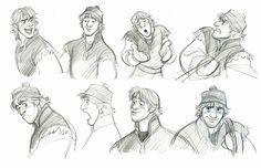 Kristoff frozen concept art :) dose o' disney disney concept Character Model Sheet, Character Sketches, Character Design Animation, Character Modeling, Character Design References, Character Concept, Disney Sketches, Disney Drawings, Arte Disney