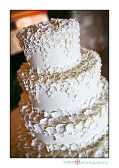 wedding cake with flower details