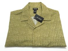 111 State XL Mens Short Sleeve Button Front Shirt Ash Green NEW NWT #111State #ButtonFront