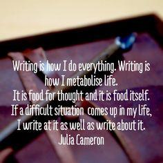 Writing metabolises life.