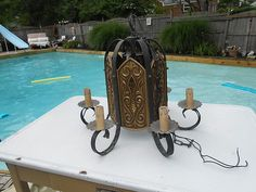 Vintage Gothic Castle Old World Theme Chandelier Light Man Cave Great Any Room | eBay