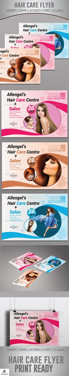 Hair Dresser Salon Fashion Business Flyer Pedicures Marketing And Manicures