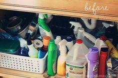 Under the sink organizing ideas