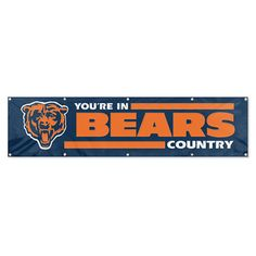 Chicago Bears NFL Applique & Embroidered Party Banner (96x24)
