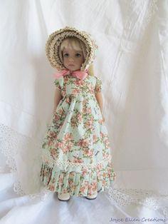 """13"""" Effner Little Darling BJD fashion Peach & lace Regency OOAK handmade by JEC #JoyceEllenCreations"""