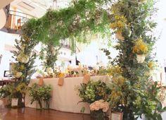 花どうらく/ウェディング/hanadouraku/http://www.hanadouraku.com/bouquet/wedding/メインテーブル/ブラックボード/メインバック/フェア/ゲストテーブル/アーチ