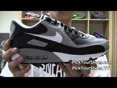 Nike Air Max 90 Premium Black White Medium Grey 333888-008 - PYS.com