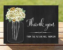 bridal shower thank you chalk board signs diy - Google Search