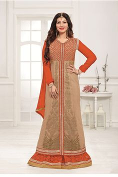 Semi Stitched Stylish Designer Anarkali Suit