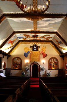Inside the church at the Holy City, near Lawton, OK