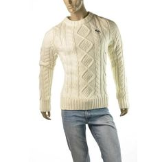Check out this sexy Mens Abercrombie & Fitch A Beaver Point Sweater