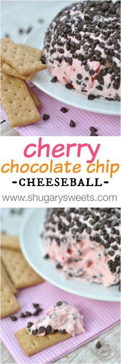 Cherry Chocolate Chip Cheeseball - Shugary Sweets Like this.