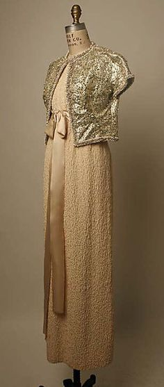 Ensemble, Evening  Yves Saint Laurent, Paris  (French, founded 1962)  Designer: Yves Saint Laurent (French (born Algeria) Oran 1936–2008 Paris) Date: spring/summer 1963