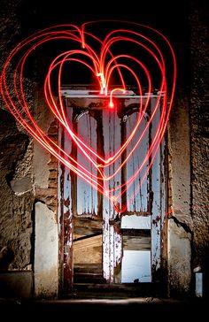Ladismith heart light scribing by Hendrik Groenewald  #light_art