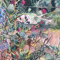 Landscape art by MIchelle Morin Landscape Art, Landscape Paintings, Landscapes, Floral Illustrations, Illustration Art, Flower Art, Art Flowers, Fantasy Artwork, Botanical Art