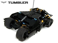 Amazing motorized LEGO Batmobile