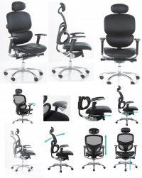 Wave Ergonomic Full Leather Chair With Leather Headrest : High quality ergonomic chairs, posture chairs available at affordable prices, Large selection of other furniture, Free delivery all orders to mainland UK  For More Information Visit http://www.flatpackoffice.com/wave-ergonomic-full-leather-chair-with-leather-headrest-p-326.html