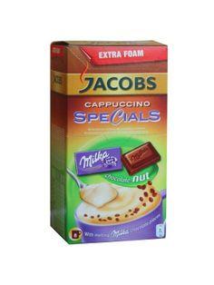 Napój Kawowy o Smaku Orzechowym z Dodatkiem Kawałków Czekolady  • rozpuszczalny napój kawowy • smak czekoladowo-orzechowy • 8 porcji napoju