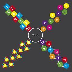 WildZebra Playground Markings - Traditional Games - 4 Way Hopscotch