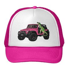 Pink Jeep dinosaur hat