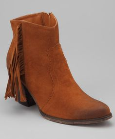 Take a look at this Tan Atropos Ankle Boot by Bucco on #zulily today!