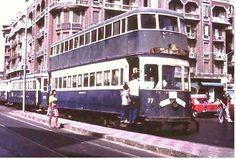 الترام الزرقاء الشهيرة في الاسكندرية السبعينات
