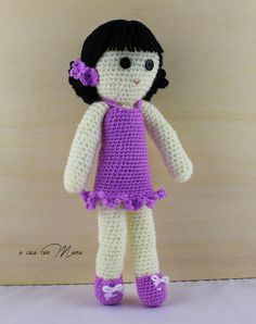 Bambola fatta a mano handmade doll regalo per bambina soft