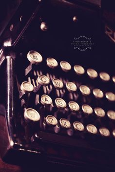 Old Typewriter Keys 8x10 - Fine Art Photography via Etsy.