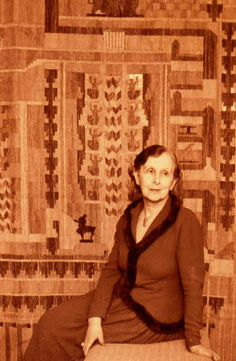 Loja Saarinen, ca in front of the Cranbrook tapestry, of which I helped create a replica around 2000 in Loja's very own weaving studio. Seems now like a dream. Rya Rug, Image Types, Google Images, The Neighbourhood, Finland, Loom, Weaving, Textiles, Tapestry