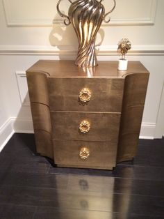 Brass metal chest