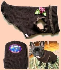 doggie cozy, dog coat tutorial with pattern, my boys are gonna have them with out the flowers and satin ribbon, bias tape Visit Us Cortes Poodle, Puppy Clothes, Animal Projects, Dog Sweaters, Dog Coats, Diy Stuffed Animals, Dog Accessories, Fur Babies, Your Pet