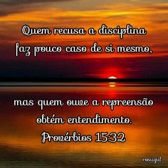 #Provérbios #Sabedoria #Disciplina #OuçaARepreensão #ObtenhaEntendimento #DeusFiel #rosiigiil