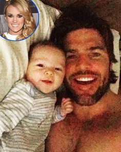 Carrie Underwood's Husband Mike Fisher Shares Shirtless, Adorable Photo With Son Isaiah - See the Snap!