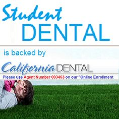 Student Dental is backed by California Dental and is committed to offering the best value for the member's dollar with some of the most comprehensive schedule of covered benefits, the lowest co-payments (cost) for treatment, the largest selection of dental providers, and our Service Representatives are committed to being the best in the industry. Weather you are an individual or a student... you will find a program that will meet your budget.