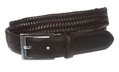 Mens Comfort Stretch Braided Leather Belt Size 1X  44 Color Brown * Read more  at the image link.