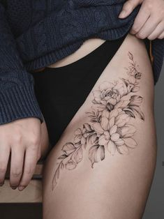 🌸 🌿 thanks for traveling homie 💃 🏻 tattoo tattoos, body art t Hip Tattoos Women, Sexy Tattoos, Cute Tattoos, Beautiful Tattoos, Flower Tattoos, Body Art Tattoos, Small Tattoos, Sleeve Tattoos, Tatoos