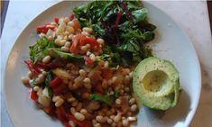 alkaline breakfast: baked bean salsa