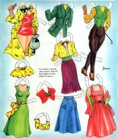 HAT BOX 1950s Style Paper Dolls Saalfield # 2610, 1954, JEANNE and Connie, Rose Marie and Suzanne 2 of 6* The International Paper Doll Society by Arielle Gabriel for all paper doll and paper toy lovers. Mattel, DIsney, Betsy McCall, etc. Join me at ArtrA, #QuanYin5 Linked In QuanYin5 YouTube QuanYin5!