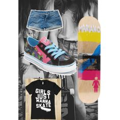 """""""skater girl outfit"""" by coventryhannah on Polyvore"""