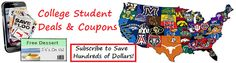 We just added over 40 more colleges and universities to our College Student Discount Program. Check out the coupon offers! College Student Discounts, College Campus, Colleges, College Students, Coupons, University, Check, Coupon